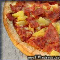 Big Bacon, Ham and Pineapple Pizza