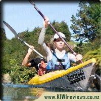 Karapiro Hidden Waterfalls Kayak Tour