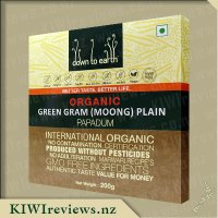 Down to Earth Organic Papadum - Green Gram (Moong) Plain