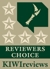 A 5 Star Award from KIWIreviews.co.nz